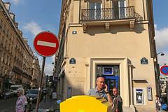Paris 16me - Paris (France) (Meteorry) Tags: street madame woman man paris france male art sign yellow corner coin europe ledefrance femme spaceinvader spaceinvaders july bank invader noentry letterbox rue invasion panneau idf homme wrongway artderue 2015 banque boteauxlettres 75016 lcl meteorry sensinterdit pa1000plus invaderwashere pa1143