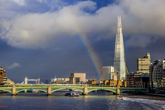 After The Rain HC9Q4464-1 (rodwey2004) Tags: longexposure london clouds londonbridge landscape rainbow cityscape riverthames theshard