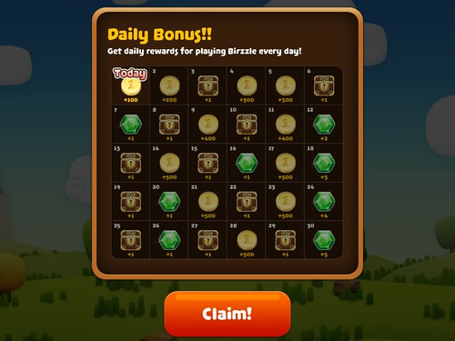 Mobile games Daily Reward: screenshots, UI