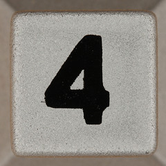 tabletop sudoku number 4 (Leo Reynolds) Tags: xleol30x onedigit number xsquarex numberset 4 four grouponedigit canon eos 40d xx2015xx
