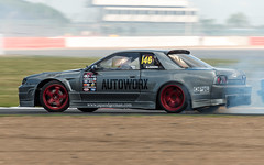 Trax drift car (technodean2000) Tags: show uk car skyline nikon nissan smoking modified tyres drifting drift trax lightroom 2015 d610