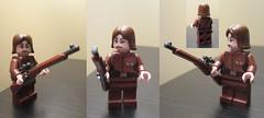 LEGO WW2 Russian famous sniper L.Pavlichenko (dmikeyb) Tags: female lego wwii weapon sniper ww2 custom russian