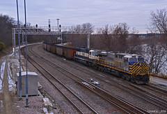 "Westbound Coal Train in Kansas City, KS (""Righteous"" Grant G.) Tags: citirail crex bn bnsf burlington northern emd ge power railroad railway locomotive west westbound loaded load loads coal kansas city"