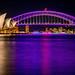 Sydney Opera House & Harbour Bridge by night