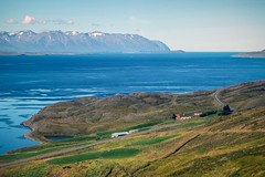 Eyjafjordur – a fjord in northern Iceland by the town of Akureyri (Pat L.314) Tags: iceland akureyri eyjafjordur fjord mountains water scenic outdoor landscape absolutelystunningscapes ngc