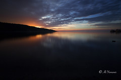 The Sun Rising II (Ali Yamaner) Tags: sunrise landscape seacape seaside early morning tadoussac quebec canada outdoor clouds dawn stlawrance stream