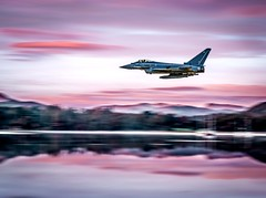 Flyby... (Chall_lanny2017) Tags: lakedistrict airplane typhoon flyby photoshop nikond3300 landscapephotography landscape mountains adventure travel wanderlust sunset colour composite nikon flying pilot plane