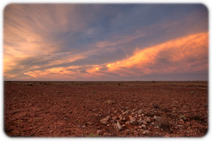 Outback at Dusk (Craig Jewell Photography) Tags: arid australia barren camp clouds cloudy desert dry dryground dusk flat gravel greatvictoriadesert ground horizon hot land landscape martian moonscape mounteba nothingness openness outback parched pebbles prominenthill red rocks sky southaustralia stark sunset wilderness iso400 f40 ¹⁄₄₀₀sec canoneos5dmarkii ef1635mmf28liiusm copyright2016craigjewell 29°4228s135°3154e 20161206204623mg941123tif