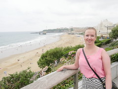Overlooking Grand Plage, Biarritz!