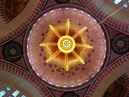 #chandelier #mosque #dome