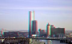 Wilhelminaplein  Rotterdam 3D (wim hoppenbrouwers) Tags: wilhelminaplein rotterdam 3d anaglyph stereo redcyan v8