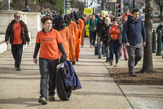 Chantal de Alcuaz Leads an Anti-Torture March On the 15th Anniversary of the Guantánamo Detention Center's Opening