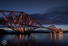 Forth Rail Bridge, Early Morning - Scotland (Renegade Scot) Tags: scotland bridge railway rail forth firth train river steel travel landmark architecture victorian iron engineering queensferry water red cantilever crossing estuary metal scottish coast historic sea landscape historical structure coastline britain lights sunrise morning firthofforth forthbridge forthrailbridge