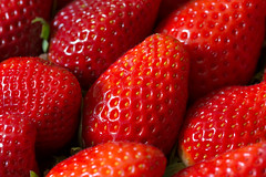 Strawberries (cuppyuppycake) Tags: strawberries food fruit seeds closeup macro red delicious
