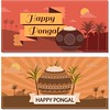 free vector Of Happy Pongal Day Banners Design (cgvector) Tags: banners card cartoon celebration character chennai countries culture day different dress farmer festival food fruit grain greeting happy harvest hindu holiday illustration india indian makar male man people pongal pot prosperity rangoli religion religious rice sankranti south sugarcane sun traditional vector decoration flower tradition wheat