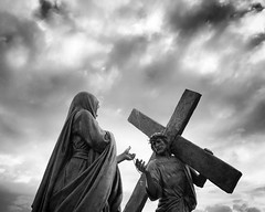 (LaFemmeEnNoir) Tags: angle sky clouds blackandwhite crucify viacrucis christian church catholic mary christ jesus