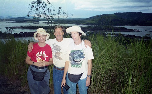 Deb, Bill and Kaye at the Orinoco Rapids