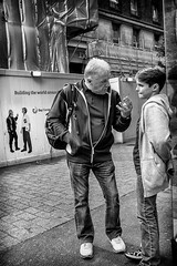 Snap (michael.knight65) Tags: blackandwhite streetphotography photooftheday digital outdoor people sony rx100iii mono monochrome city town street black white man young old omdem5ii phone london portrait character urban scene european contrast expressive photography candid streetportraiture england travel travelling couple faces face realpeople reallife