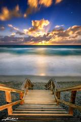 Moon Lit Night at Beach Carlin Park Jupiter Florida (Captain Kimo) Tags: beach carlinpark florida hdrphotography jupiter moonlitnight stairs