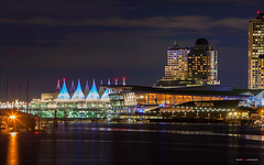 Convention Centre & Canada Place (Clayton Perry Photoworks) Tags: vancouver bc canada winter explorebc explorecanada night lights stanleypark canadaplace skyline coalharbour city