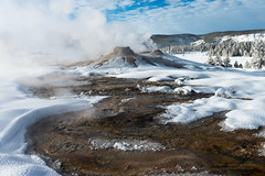 Geyser Hill (dtredinnick13) Tags: winter winterphotography yellowstone nps geyser landscape landscapephotography nature steam wyoming nationalpark nationalparkservice ynp snow