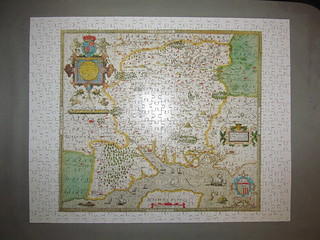 Christopher Saxton's Map of Hampshire