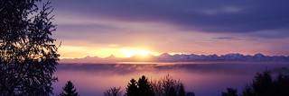 Lets Save the Sunrise above les Geneveys-sur-Coffrane