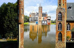 Bazel, village in Waasland, East Flanders (superposed picture) (jackfre 2) Tags: belgium bazel eastflanders waasland 17kmfromantwerp village winter superposed processed castle reflections