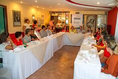 Almoço com alunos novatos e veteranos da Esem; familiares e gestores do Sesc