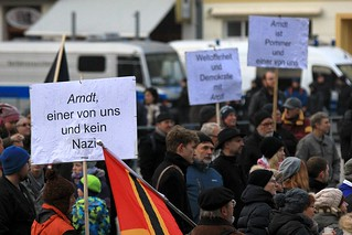 Pro-Arndt-Kundgebung und Gegendemo 24