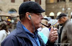 16-IMG_2185 Pipe smoker (marinbiker 1961) Tags: rome glasses candid cap pipesmoker