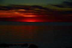 IMG_0963 (Haberama) Tags: sunset red sun canon ship sweden schweden sverige gotland karls djupvik