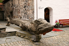Norway, Bergen (tweedy35) Tags: city sculpture fish slr norway canon europe carving bergen scandinavia cod tamron bryggen