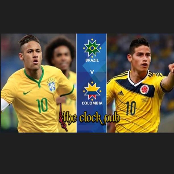 Te esperamos hoy para el partido mas esperado de la Copa America 2015. Colombia vs Brazil. Acompañanos a apoyar a nuestra seleccion. No te lo pierdas!!!! #futbol #soccer #copaamerica #colombia #brazil #pasion #amigos #cerveza #grolsch #TheClockPubCartagen