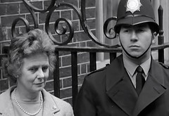1966. Outside No 10 Downing Street, Westminster, London, SW1. UK. (Update: 12-01-2016 Mrs Wilson Celebrated Her 100th Birthday) (sgterniebilko) Tags: road street uk blackandwhite london westminster station prime 60s dancing 10 ad police harold delta row 1966 formation cannon wilson mp 1960s alpha metropolitan minister sw1 londonpolice downing labourparty constables marywilson policelondon comedancing peggyspencer raymondrouse