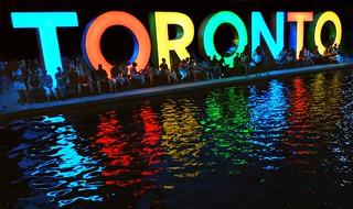 Colourful 3D City Of Toronto Sign .... Nathan Phillips Square / Toronto City Hall .... Toronto, Ontario, Canada