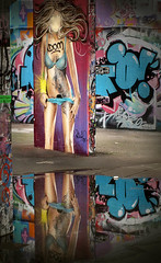 Dom (Carolbreeze99) Tags: streetart colour reflection london graffiti dom southbank matchpointwinner mpt450