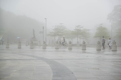 Hong Kong, Fog at the top of Lantou Island near the Budda Monumen
