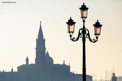 Profili veneziani (Nik!) Tags: venice streetlamp venezia sangiorgiomaggiore rivadeisettemartiri