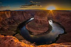 Across the horizon (JD~PHOTOGRAPHY) Tags: sunset arizona sunlight canon landscape rocks dusk horizon beautifullight canyon page coloradoriver serene naturallandscape horseshoebend pagearizona rockylandscape canon6d serenelandscape