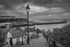 Whitby's 199 steps - 28-07-2015 B&W (kevaruka) Tags: uk greatbritain sea summer england cloud color colour history classic colors clouds composition canon outdoors evening twilight flickr colours image cloudy unitedkingdom postcard stock scenic july dreary historic northsea whitby gb 5d frontpage dull northyorkshire stylish whitbyabbey uwa cloudyday 2015 drearyday ultrawideangle 199steps canonef1635f28mk2 canon5dmk3 5dmk3 5d3 5diii canoneos5dmk3 ilobsterit