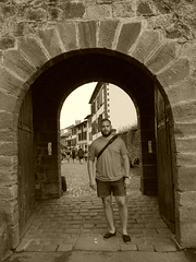 In Saint Jean pied de port, here the sel Camino de Santiago de Compostela begins!