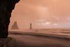 Vik (Shower of Hail) (Rusted Kiwi) Tags: black sand beach sable noir vik islande iceland hail storm pink sky winter hiver