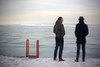 Frozen Michigan and Figures (Sean Anderson Media) Tags: lakemichigan lakeshoredrive winter ice harbor figures chicago holgalens canont2i rebelt2i