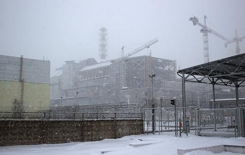 Chernobyl snow storm