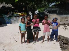 Kids at the beach, Betio!