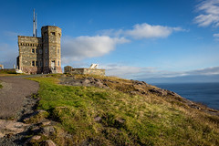 Historic Cabot Tower, Signal Hill, Newfoundland and Labrador (CookiesForDevo) Tags: horizon castle signalhill historic water monument destination stone stjohns brick park cabottower atlantic ocean newfoundland building tourism scenic landmark architecture canada national coast landscape traditional
