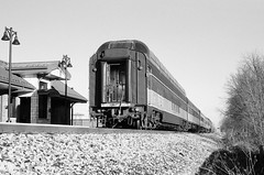 851: New Year's Day edition (Zeolite C O) Tags: amtrak hoosierstate dyer indiana leicam6 ilfordfp4 foamers