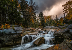 Ammonoosuc River (Walter Levin) Tags: newengland newhampshire ammonoosucriver ammonoosuc river fall autumn morning sunrise waterfall falls foliage colors dramatic sky clouds d810