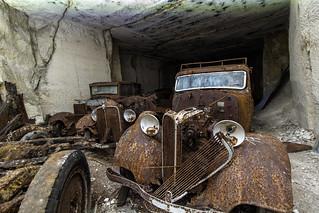 Cave of rusty diamonds